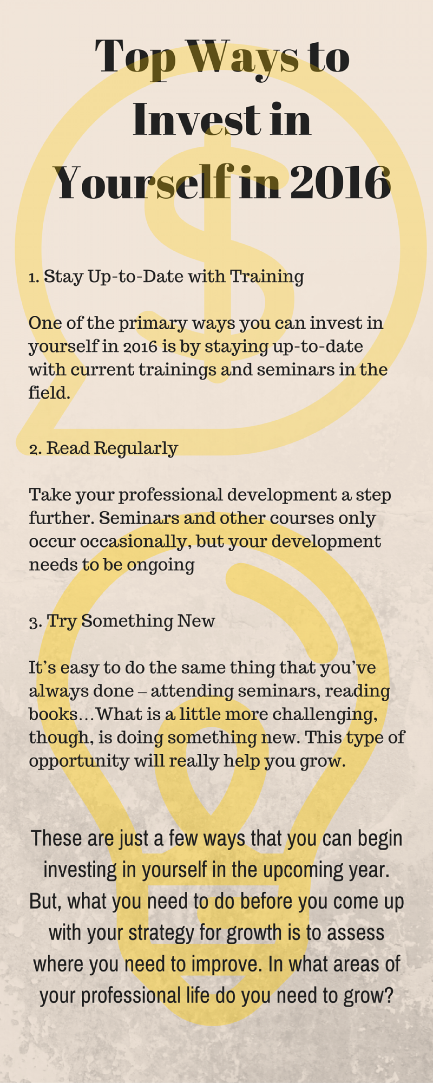 top ways to invest in yourself in ly top ways to invest in yourself in 2016 infographic