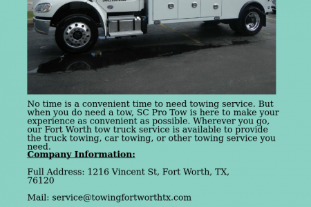 Towing Fort Worth   SC Pro Tow Infographic