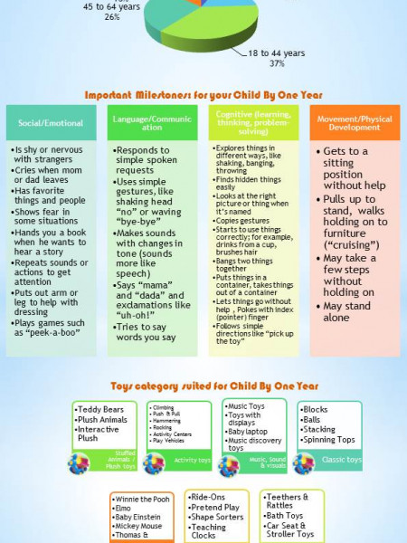 Toys for One year old  Infographic