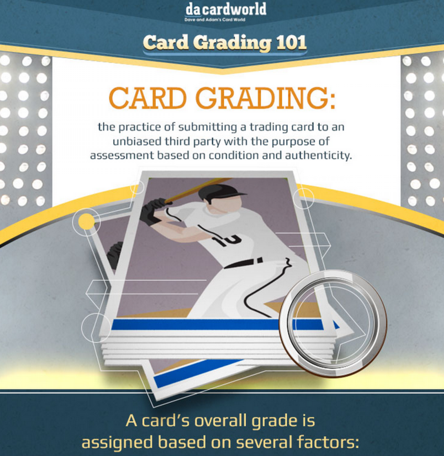 Trading Card Grading Guide: The Definitive Visual Guide To Grading Sports Cards Infographic
