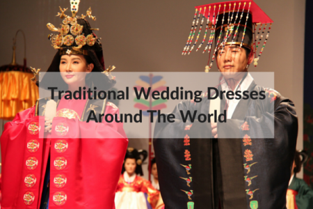 Traditional Wedding Dresses Around  The World Infographic