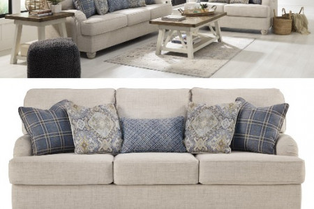 Traemore -Linen- 5PC Living Room Collection Infographic