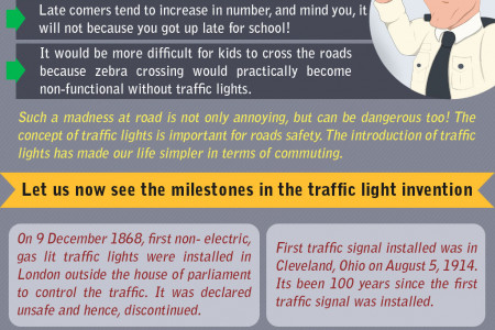 Traffic Lights - Facts and Hisotry Infographic