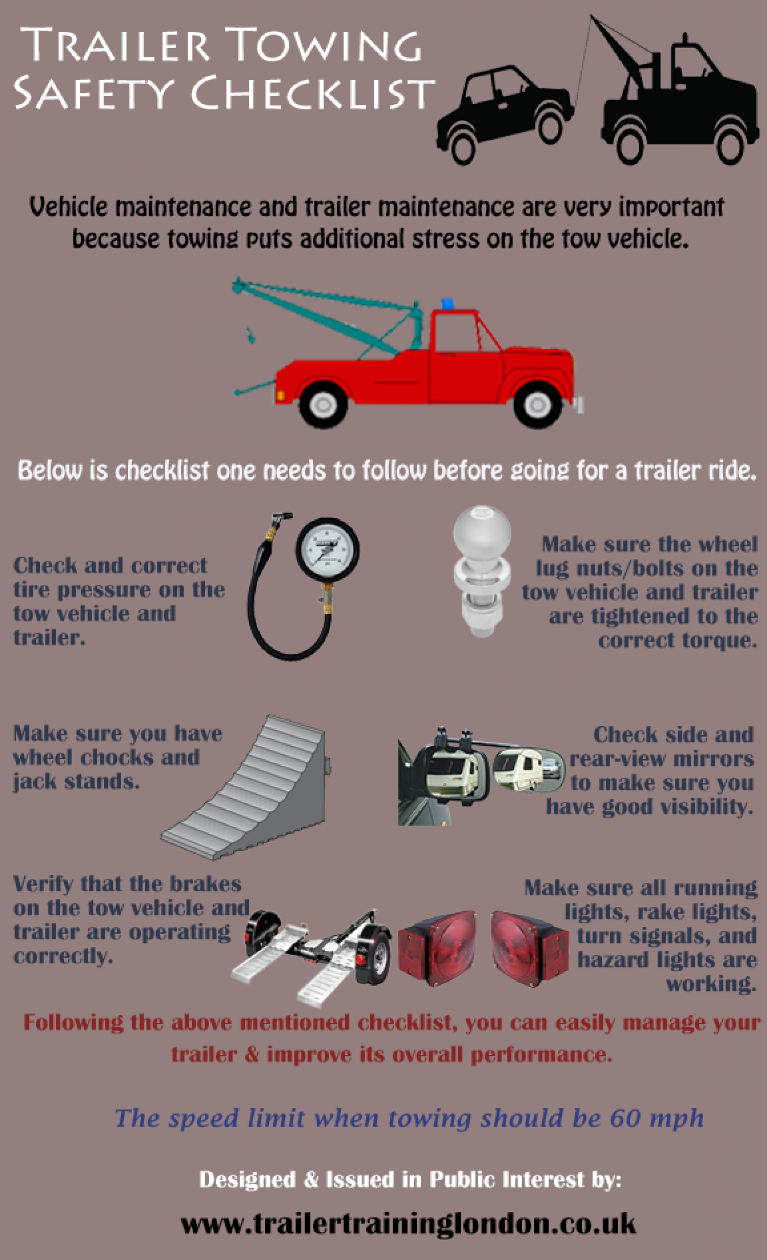 Trailer Safety : Trailer towing safety checklist visual ly