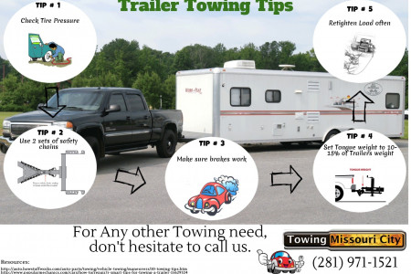 Trailer Towing Tips Infographic