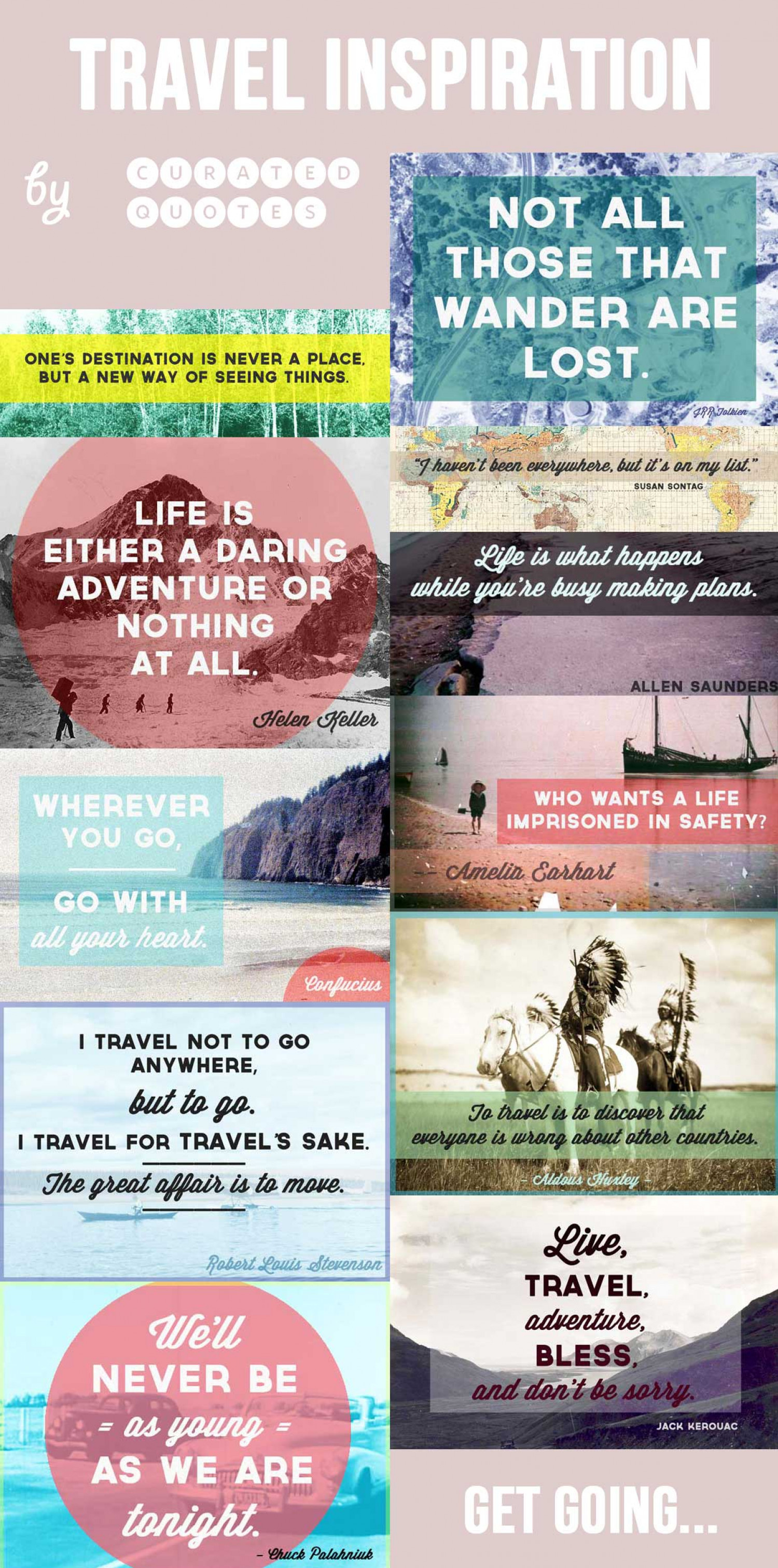 Travel Quotes Infographic