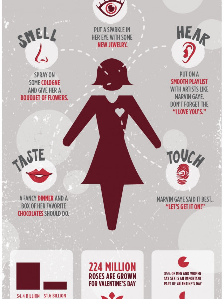 Treat All 5 of Your Lovers' Sense This Valentine's Day Infographic