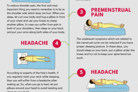 Treat common health problems with 8 simple but effective sleep postures Infographic