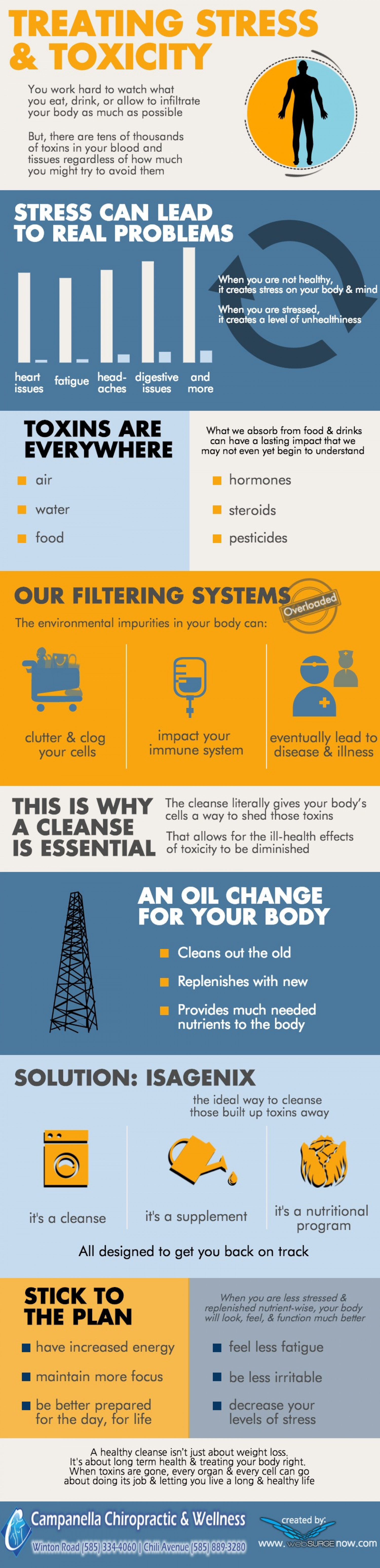 Treating Stress & Toxicity Infographic