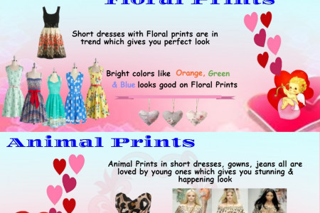 Trendy Dresses For Valentines Day Infographic