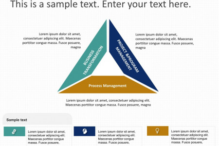 Triangle Business Strategy PowerPoint Template Infographic