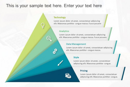Triangle Text Box PowerPoint Template 1 Infographic