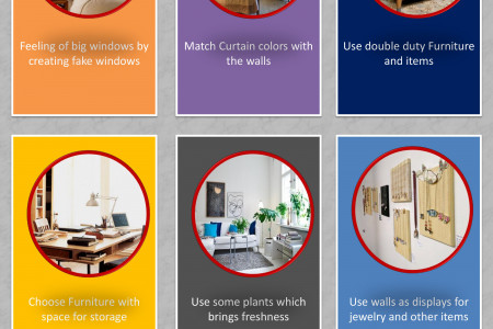 Tricks for small Living Rooms to make them feel bigger Infographic