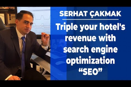 """Triple your hotel's revenue with search engine optimization """"SEO""""   Hotel Marketing Infographic"""