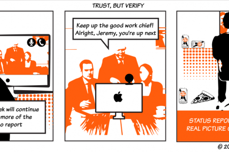 Trust your team and then verify Infographic