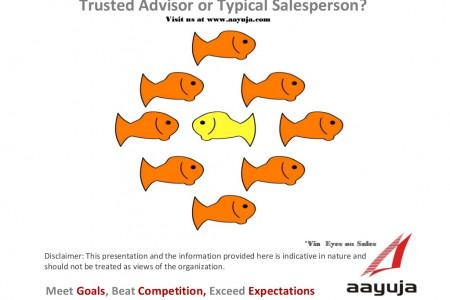 Trusted Advisor or Typical Salesperson Infographic
