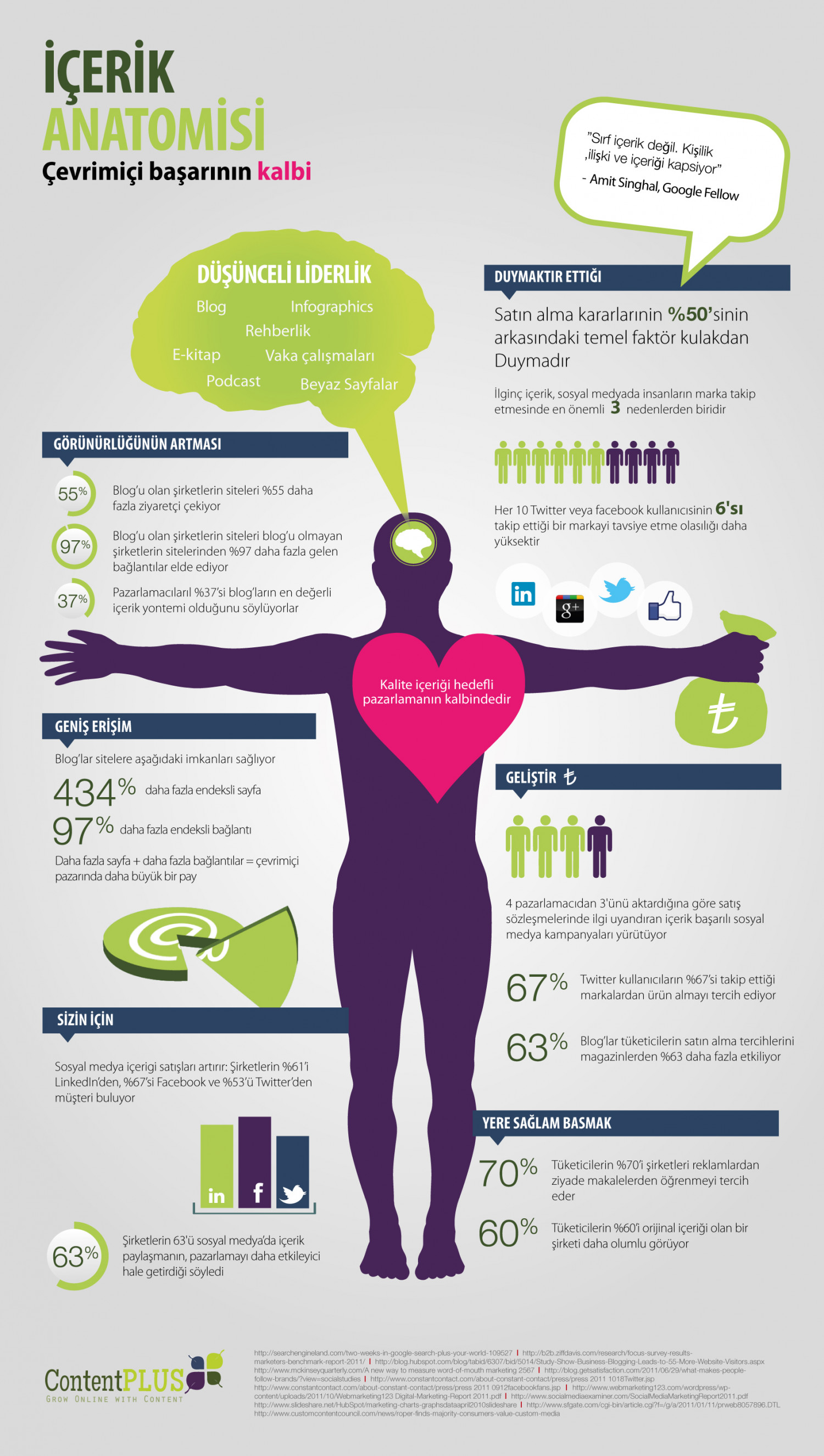 Turkish Anatomy of Content Marketing Infographic Infographic