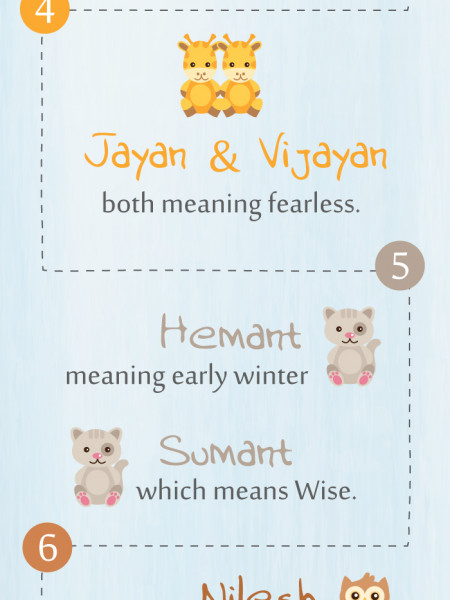 Twin boy baby names with meanings Infographic