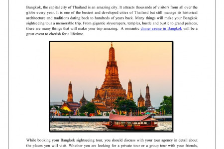 Two main attractions of a bangkok sightseeing tour Infographic
