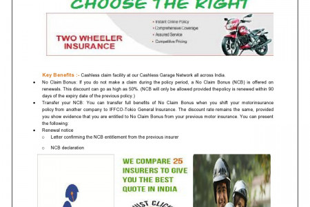Two Wheeler Insurance Policy Infographic