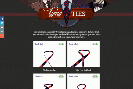 Tying Ties Infographic