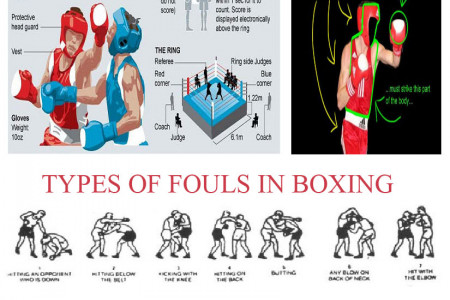 Types of boxing fouls Infographic