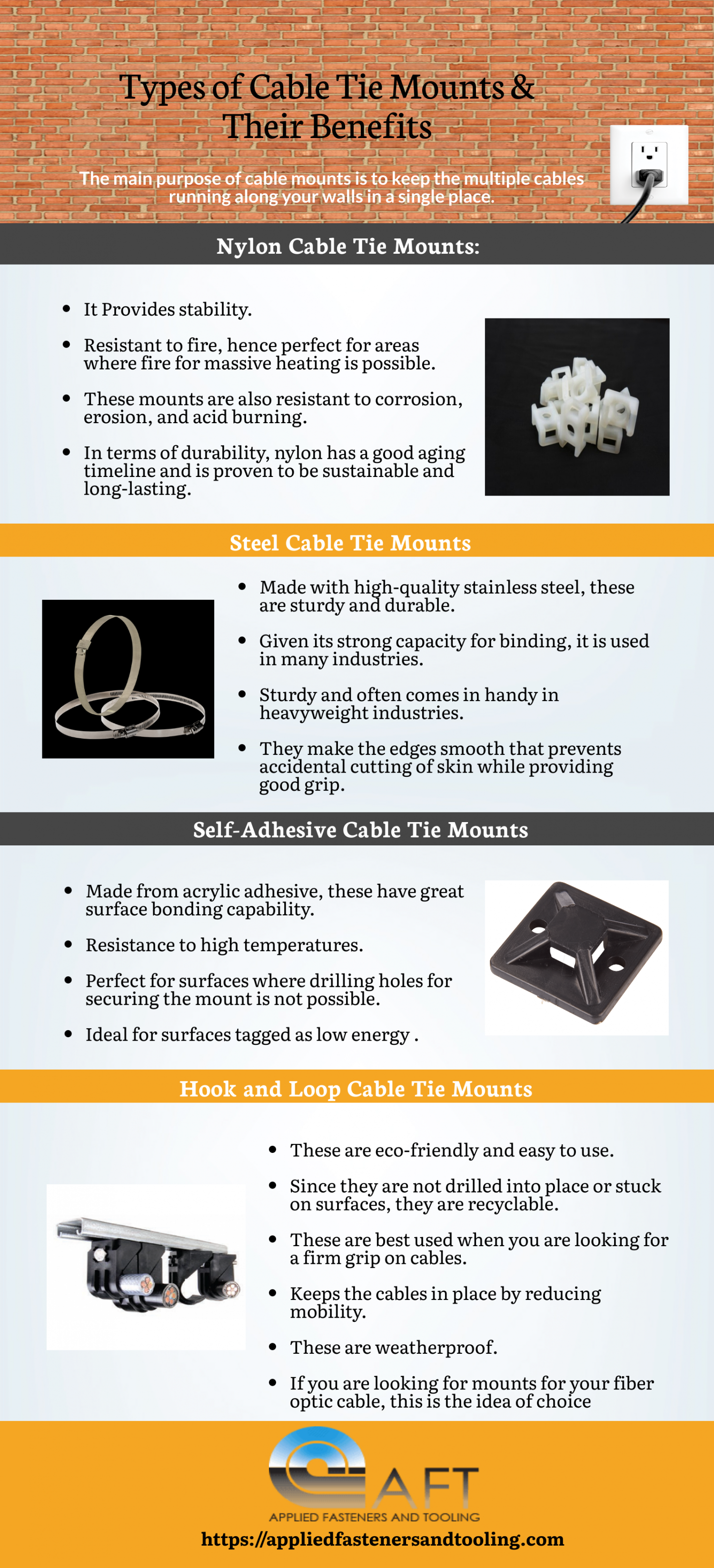 Types of Cable Tie Mounts & Their Benefits Infographic