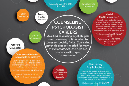Types of Counseling Psychology Careers Infographic