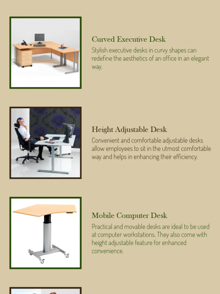 Types of Desks For Offices Infographic