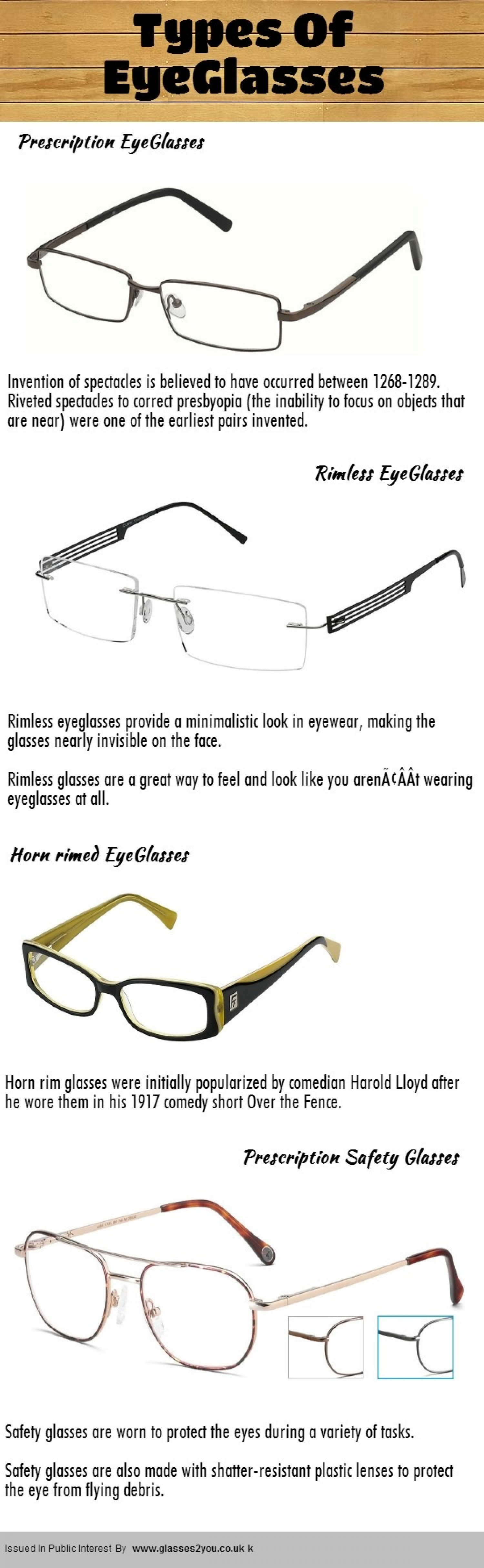 Types Of Eyeglasses Visual.ly