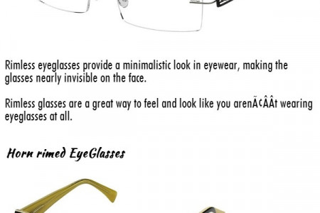 Types Of Eyeglasses Infographic
