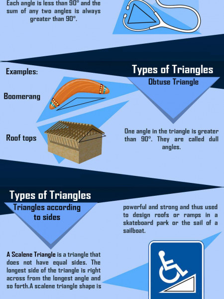 Types of Triangles Infographic