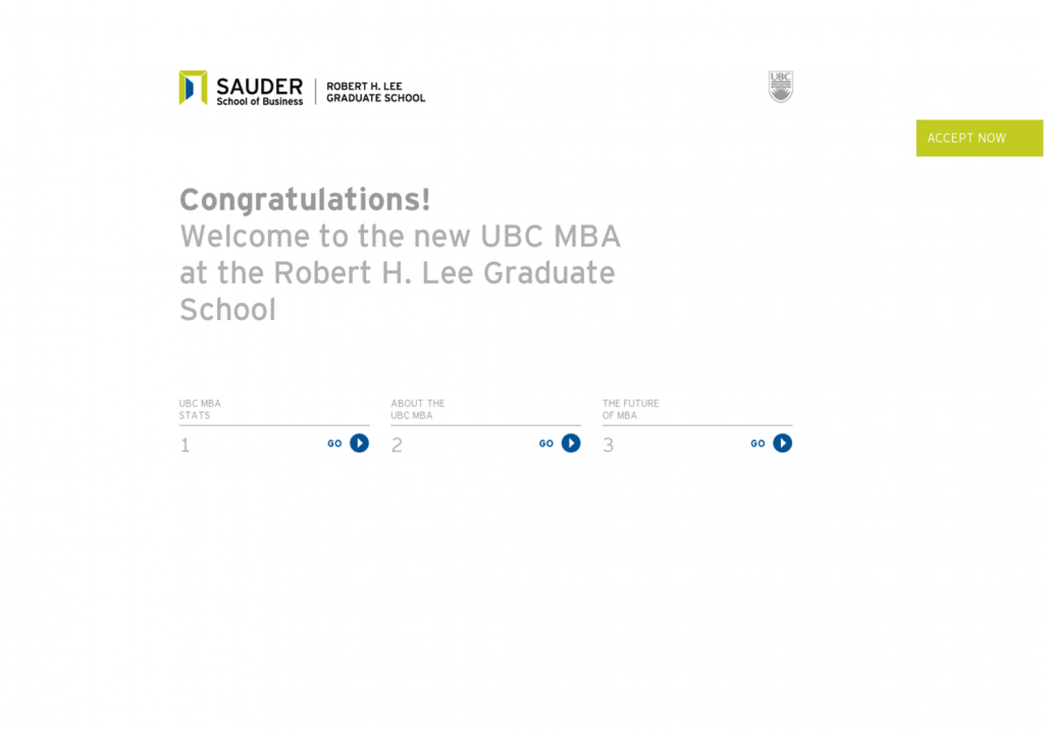 UBC MBA Welcome Infographic