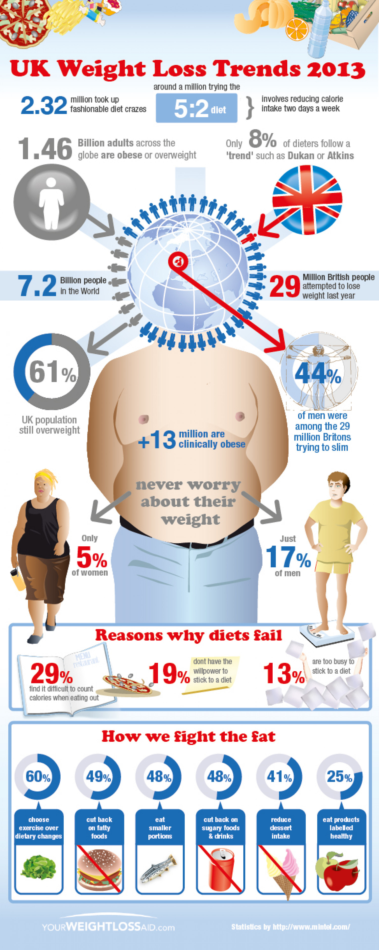 UK Weight Loss Trends 2013 Infographic