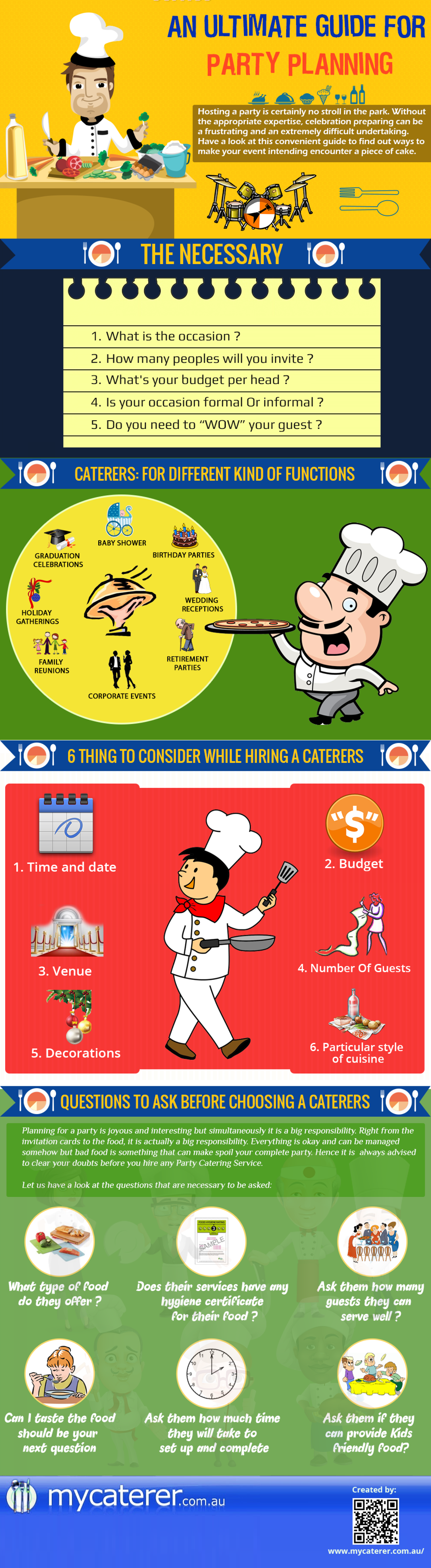 Ultimate Guide For Party Planning Infographic