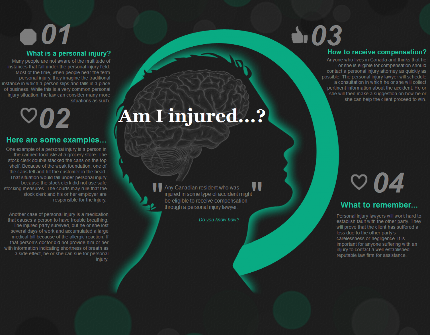 Understanding Personal Injury - When do you need a lawyer? Infographic