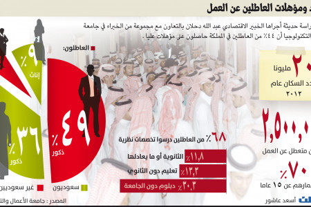 Unemployment in Saudi Arabia Infographic