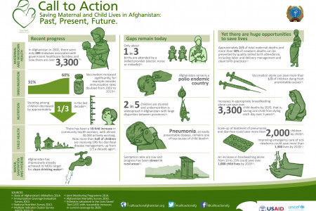 UNICEF a Call to Action Infographic