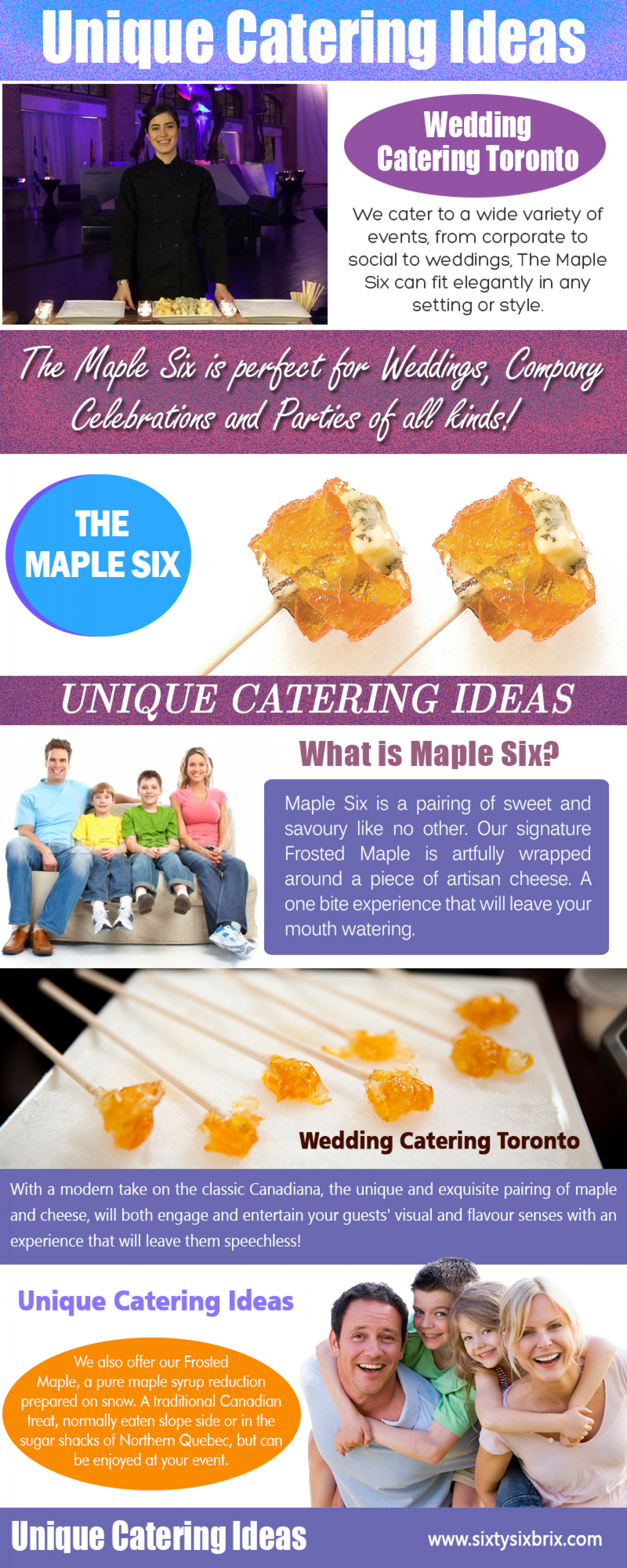 Unique Catering Ideas Infographic