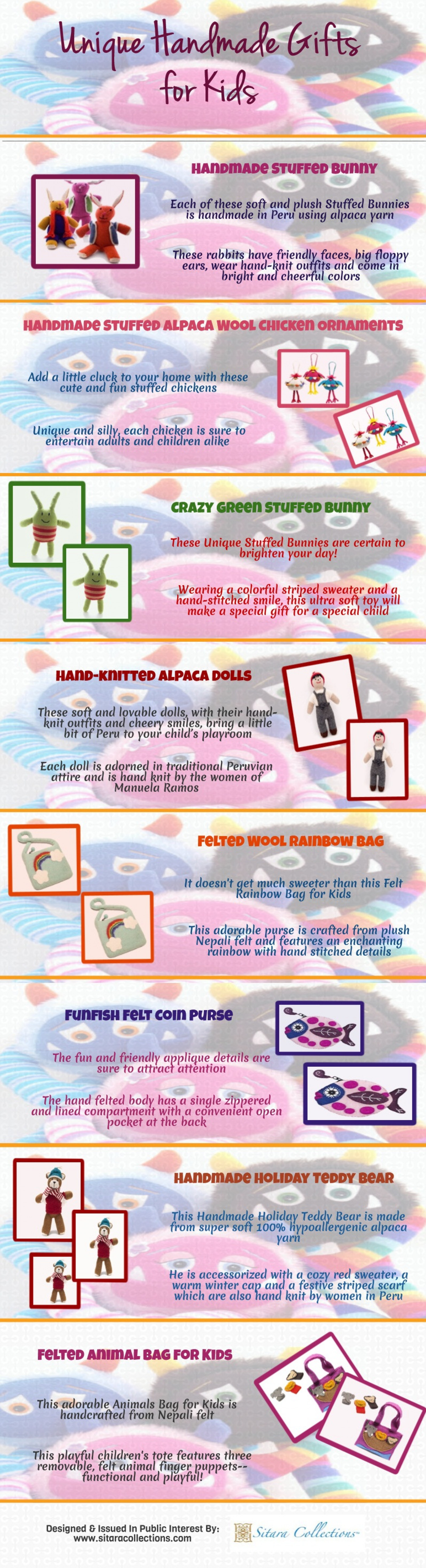 Unique Handmade Gifts for Kids Infographic