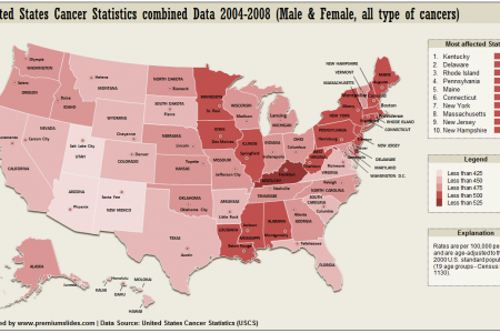 United States Cancer Statistics Map Infographic