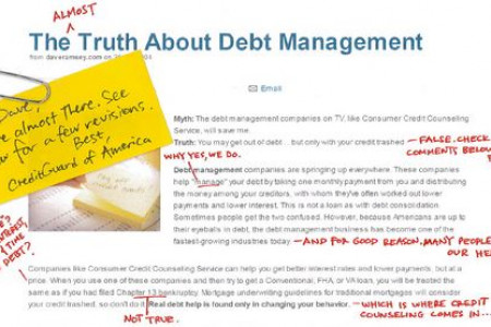 Unveiling the Truth Behind Debt Management Infographic