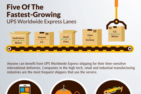 UPS Worldwide Express Infographic
