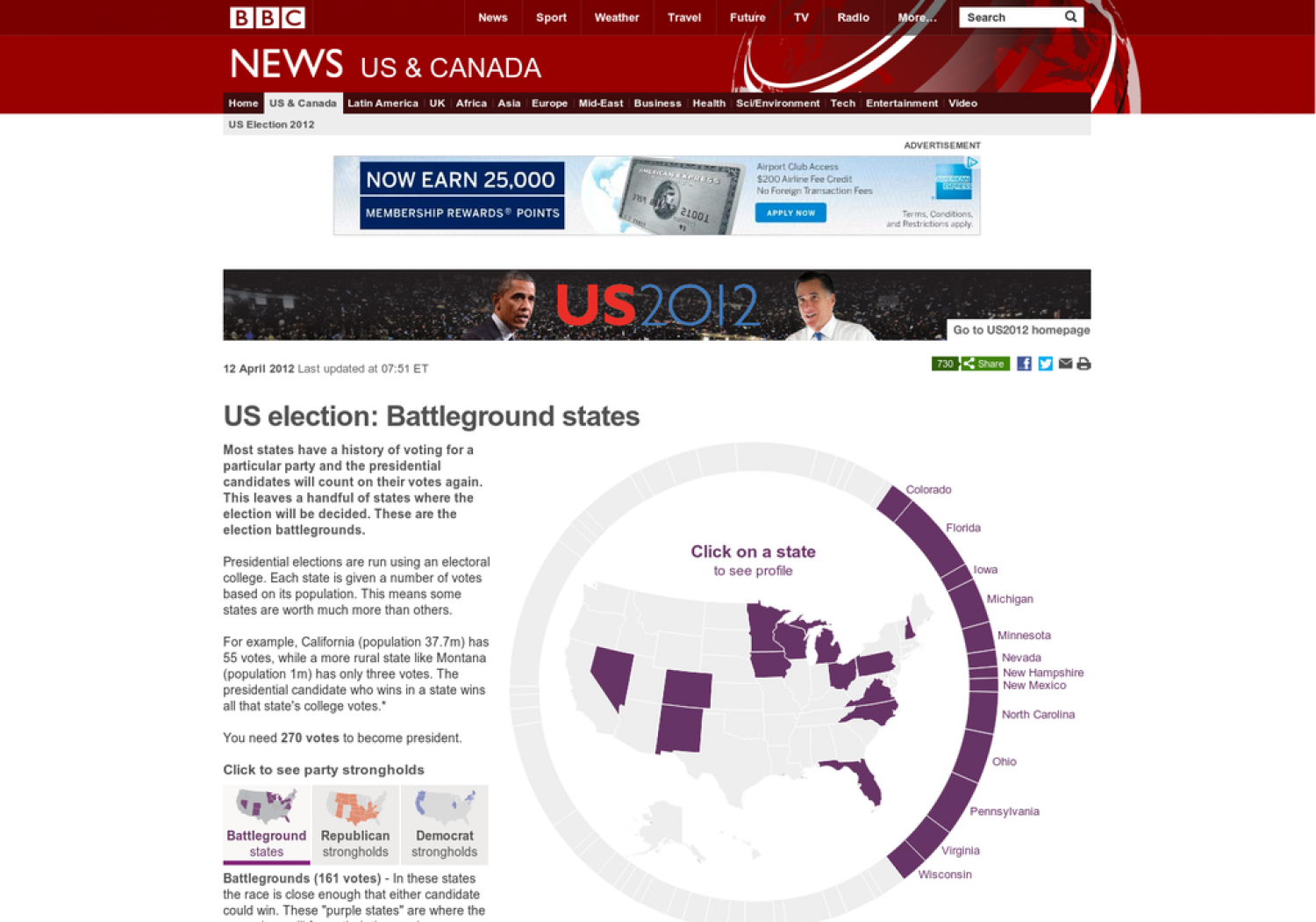 US election: Battleground states Infographic