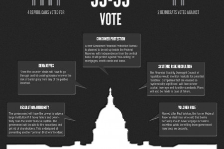 US Senate Approves Wall Street Reform Bill Infographic