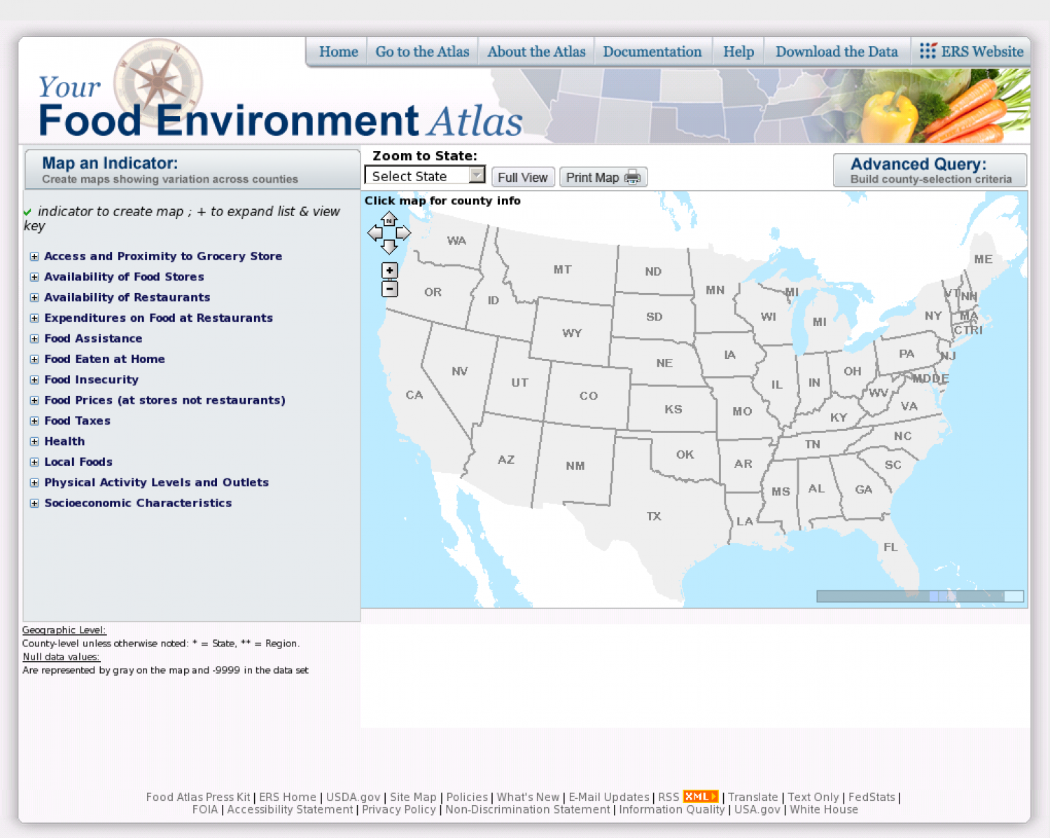 USDA Food Atlas Infographic