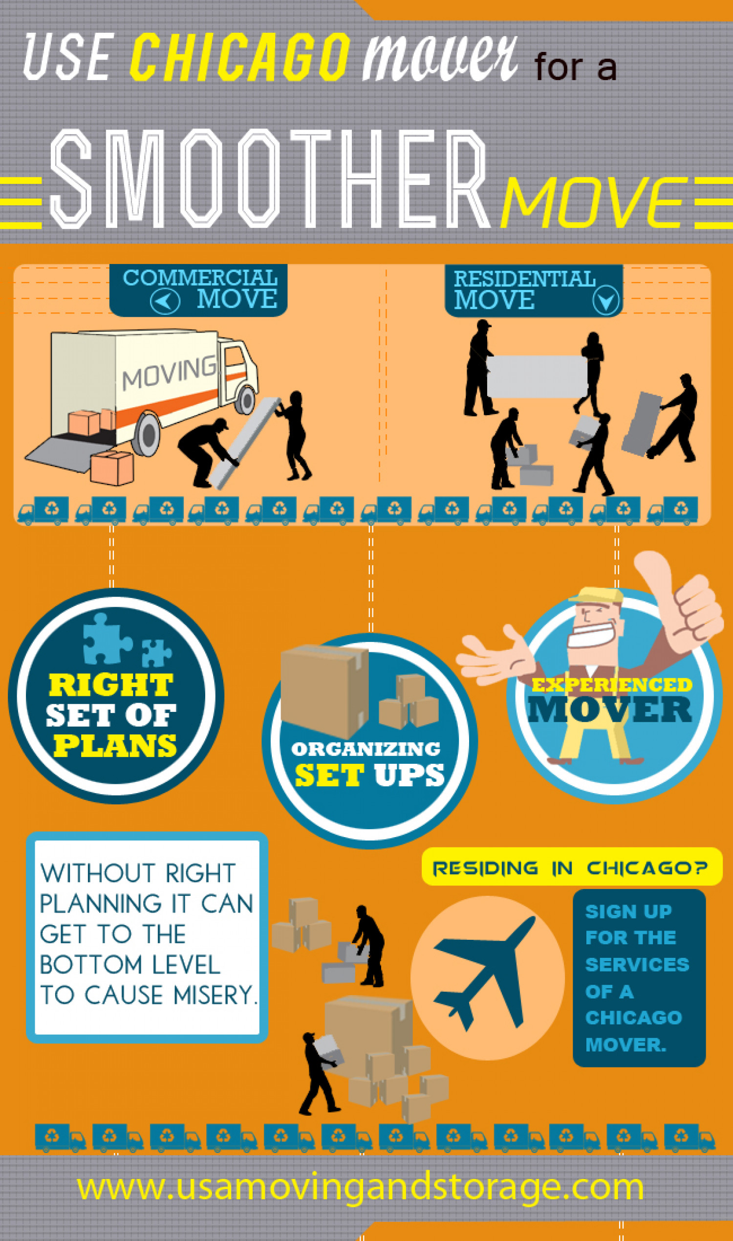 Use Chicago mover for a smoother move Infographic
