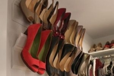Use crown molding as a place to store your heels Infographic