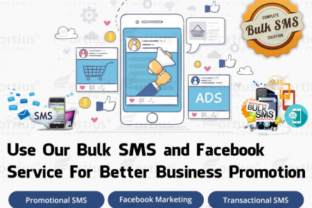 Use Our Bulk SMS and Facebook Service For Better Business Promotion Infographic