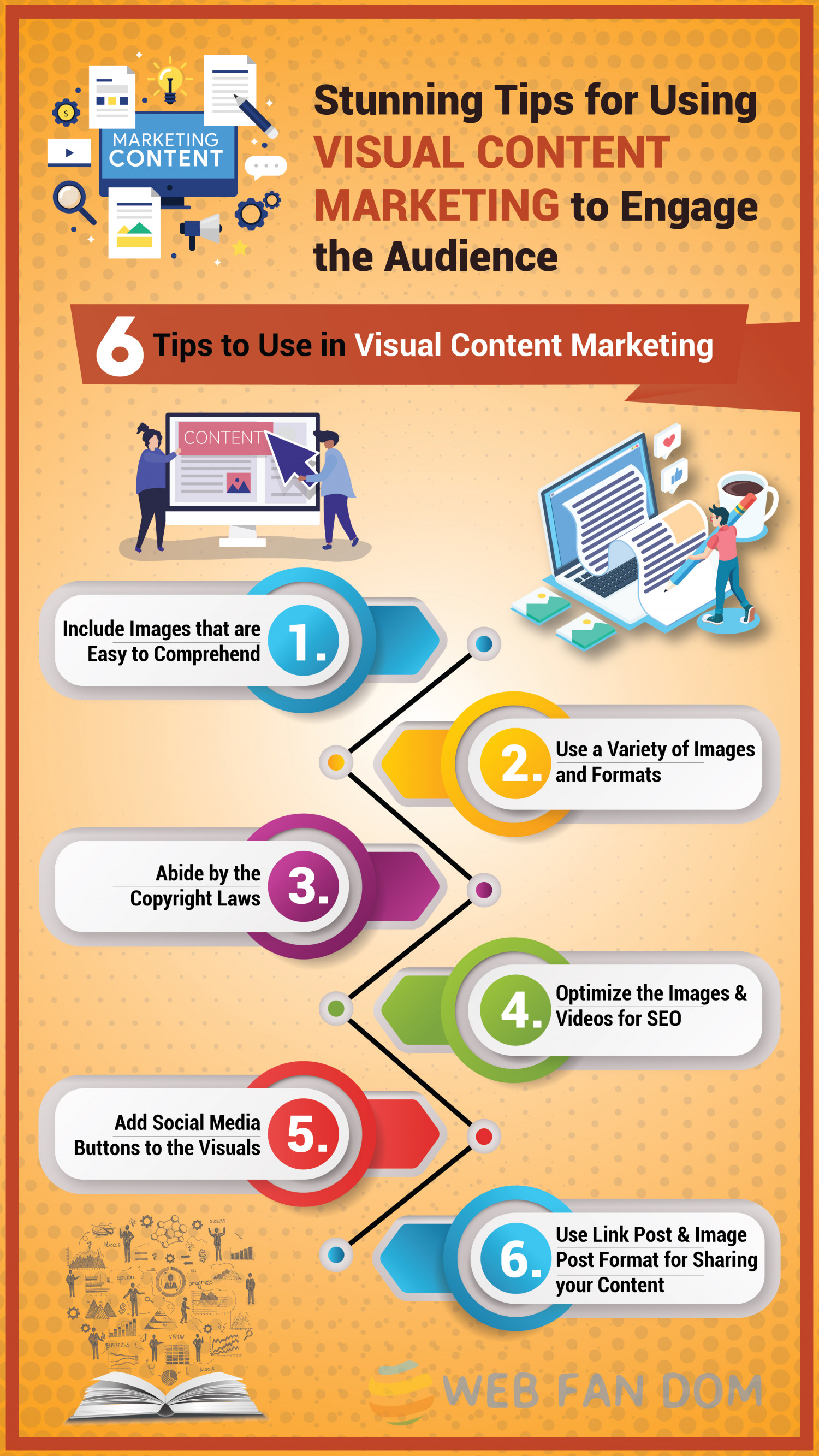 Use Visual Content Marketing to Engage the Audience in 2019 Infographic